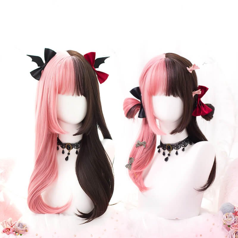Pink Mixed Brown Cos Wigs SE21486