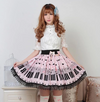 Cute sweet lolita pleated lace skirts