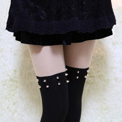 Cute harajuku rivet cosplay tights