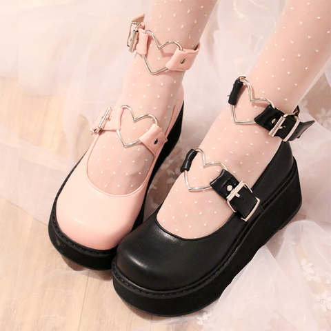 Japanese kawaii lolita harajuku platform shoes