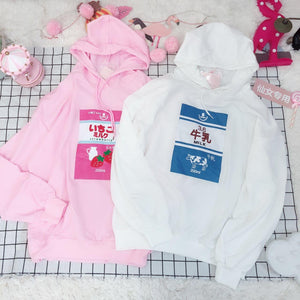 Strawberry / Milk Hoodie SE11093