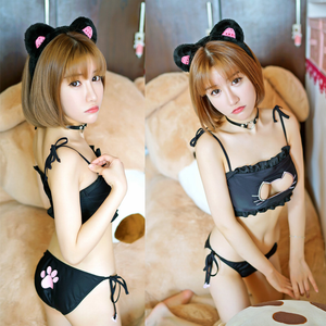 Cats Hollow Out Chest Lingeries Outfit SE7545
