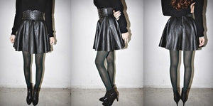 Black Leather Skirts SE2717