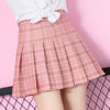 Students Grid Pleated Skirt SE7544