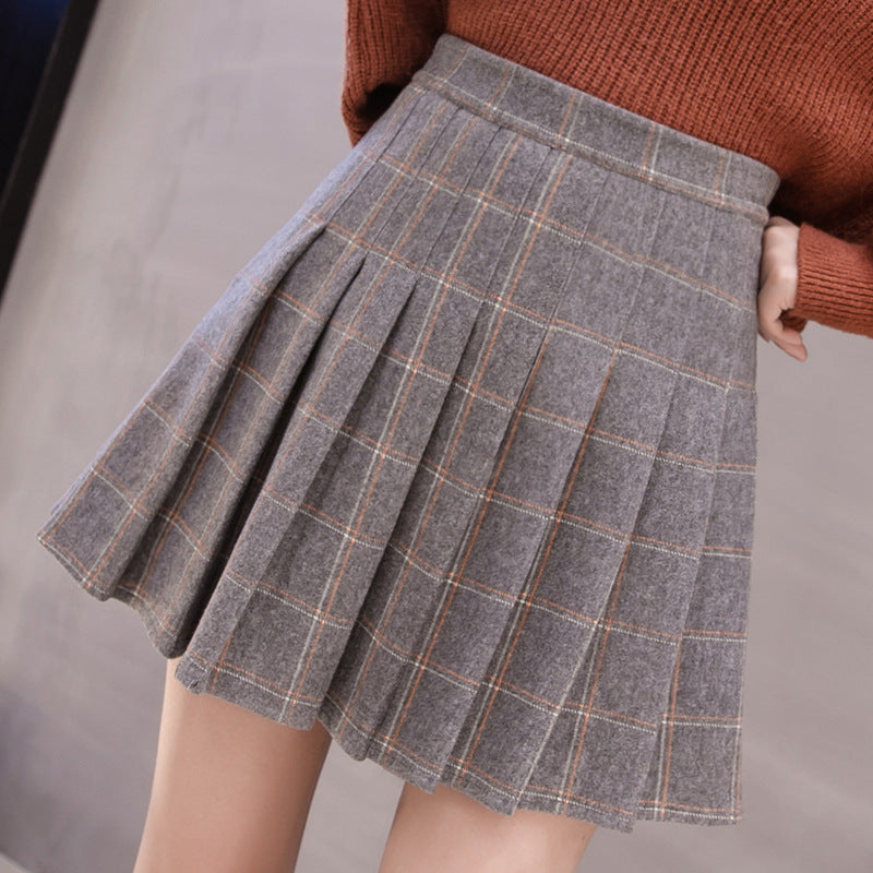 Japanese Woolen Plaid Skirt SE20165