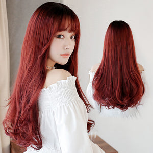 Japanese Red Brown Curly Hair SE20223