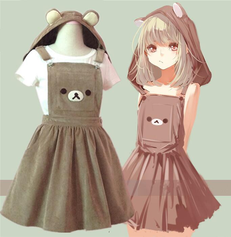 Cutie,Rilakkuma,Overall,Dress,skirt,