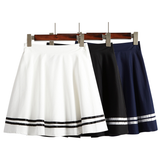 Lovely students navy skirt SE6219