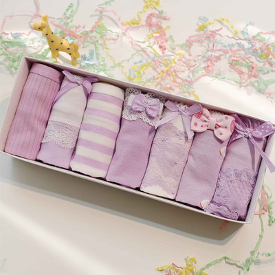 Cute kawaii princess lace panty gift box SE3205