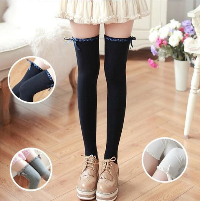Sweet bowknot stockings