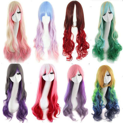 Japanese cosplay gradient curly wig SE10603