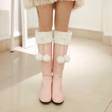 Pink/white sweet bow heels SE10741