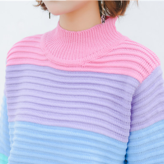 Sweet Rainbow Knitted Sweater SE10748 9069ccf70