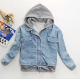 Fashion students cowboy hooded fleece jacket SE8718