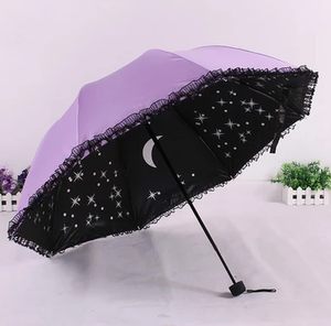 Harajuku fashion galaxy lace prevented bask umbrella