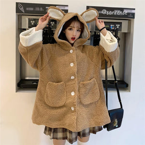 Bear Ears Hooded Coat SE21090