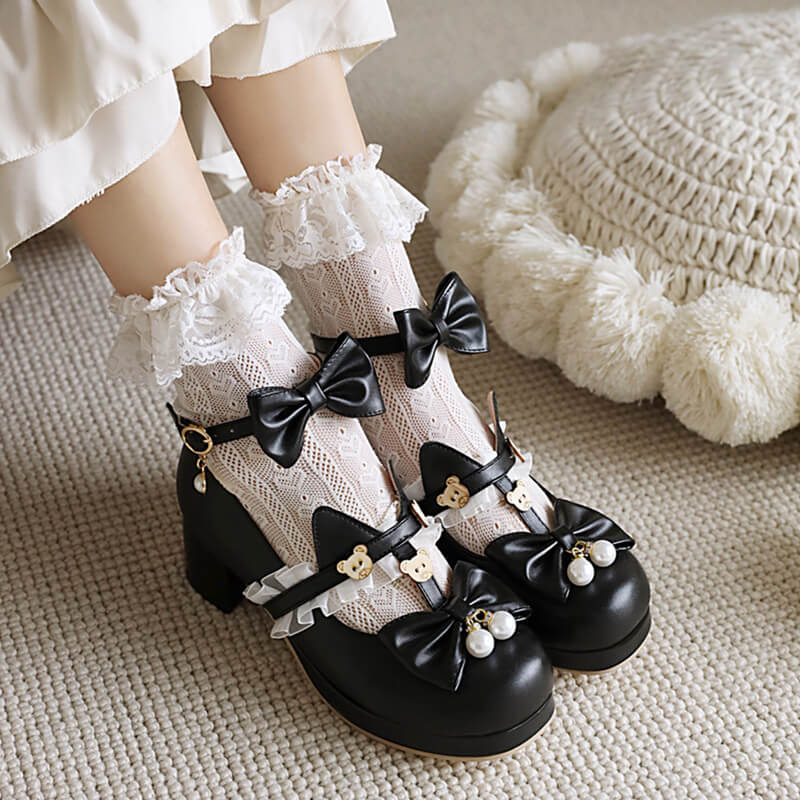Bear Lace Bow Shoes SE21510