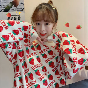 Berry Strawberry Sweater SE20545