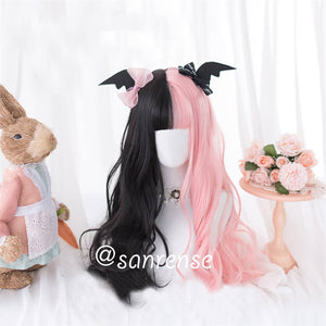 Black Mixed Pink Ombre Cosplay Wigs SE20911