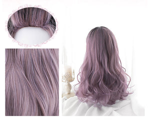 Black Purple Gradient Wig SE20819