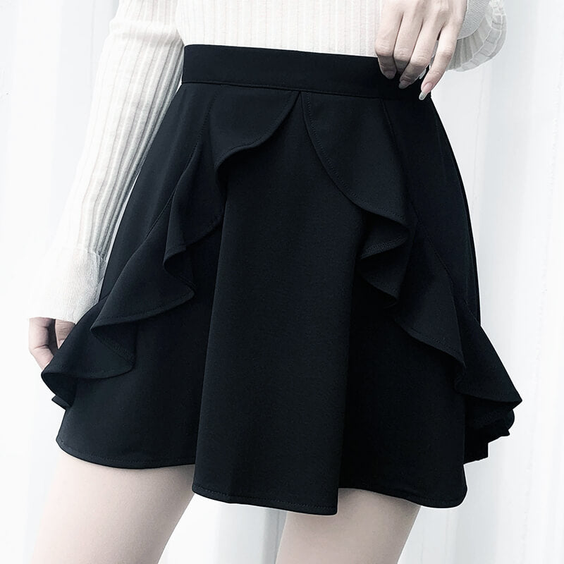 Black Ruffle Skirt SE21255