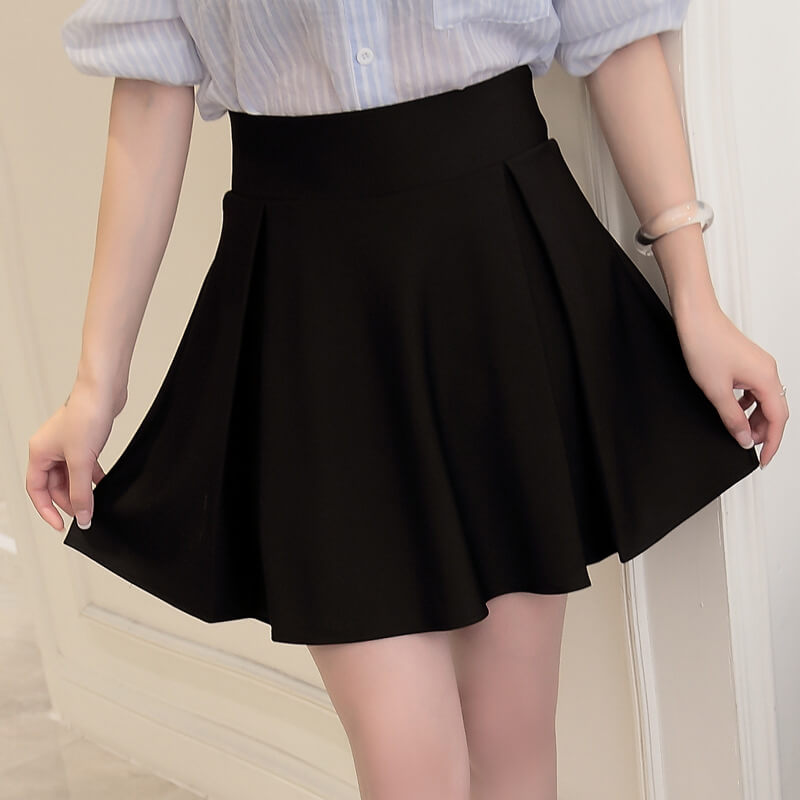 Black Red High Waist Skirt SE20420