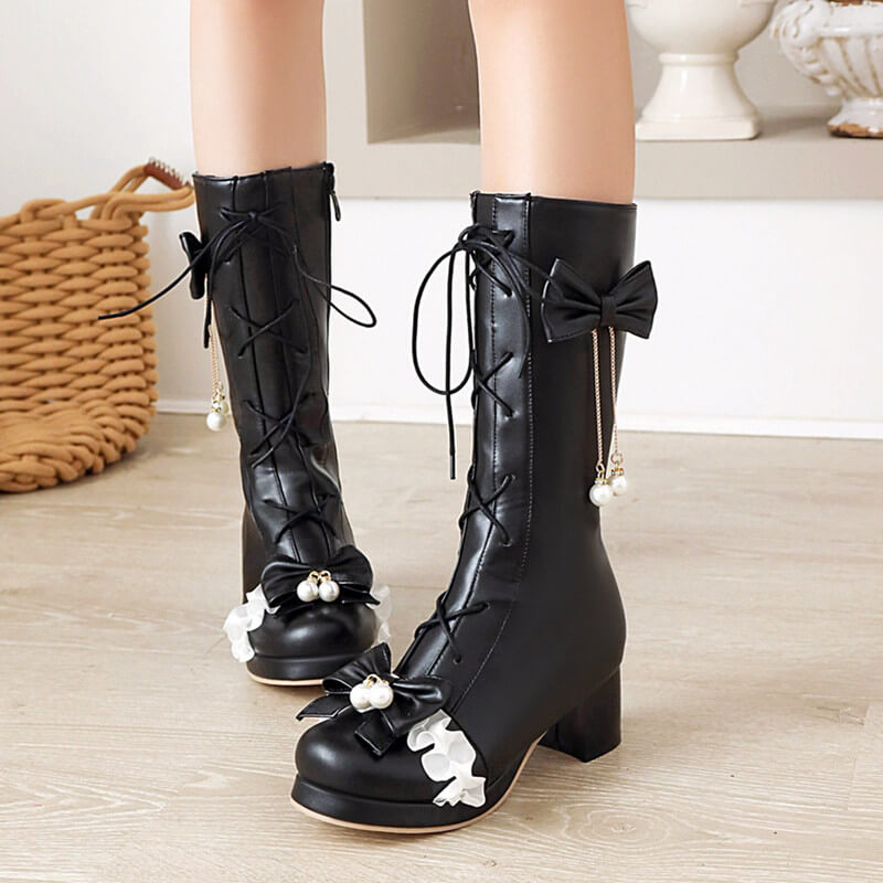 Bow Flower Rider Boots SE21366