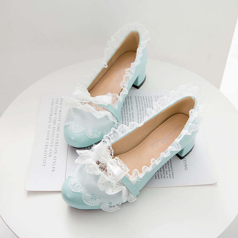 Bow Lace Lolita Shoes SE21163