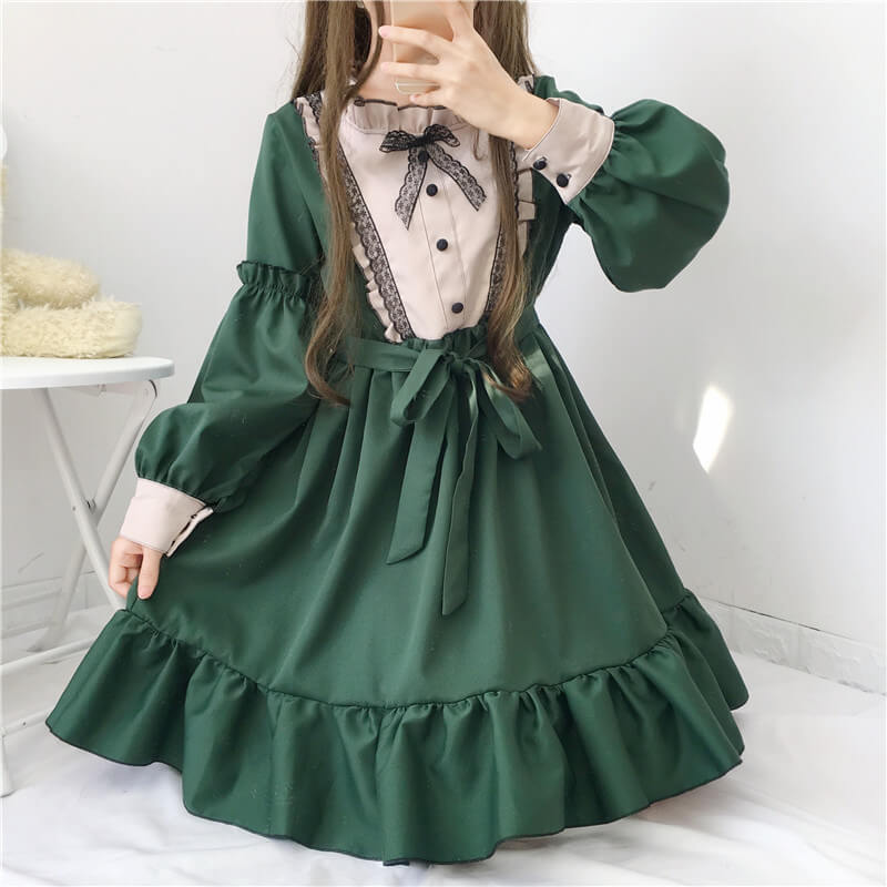 Bow Lolita Ruffle Dress SE20875