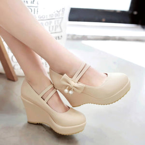 Bowknot Platform Shoes SE21259