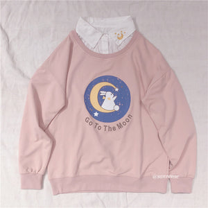 Bunny Goes To The Moon Sweatshirt SE21157