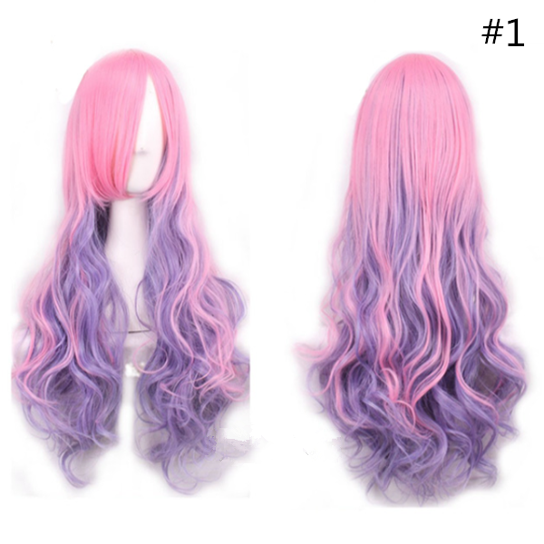 Lolita cosplay gradient curly wig SE10603