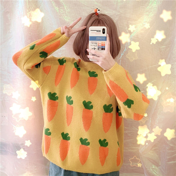 ff4211176970 Christmas Gifts Carrot Sweater – SANRENSE