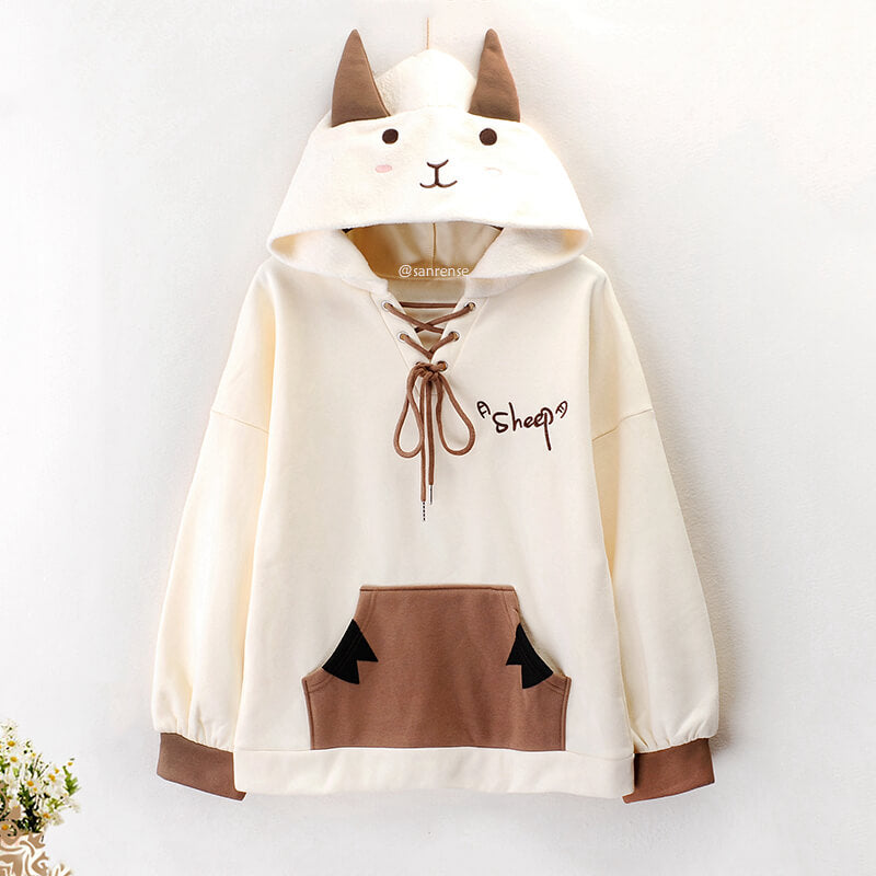 Cartoon Sheep Hoodie SE21252