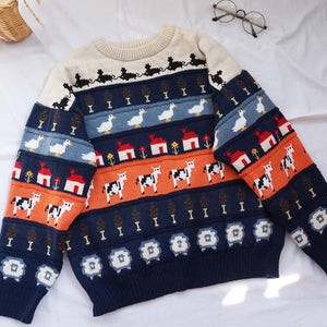 Cartoon Animal Loose Sweater SE20606