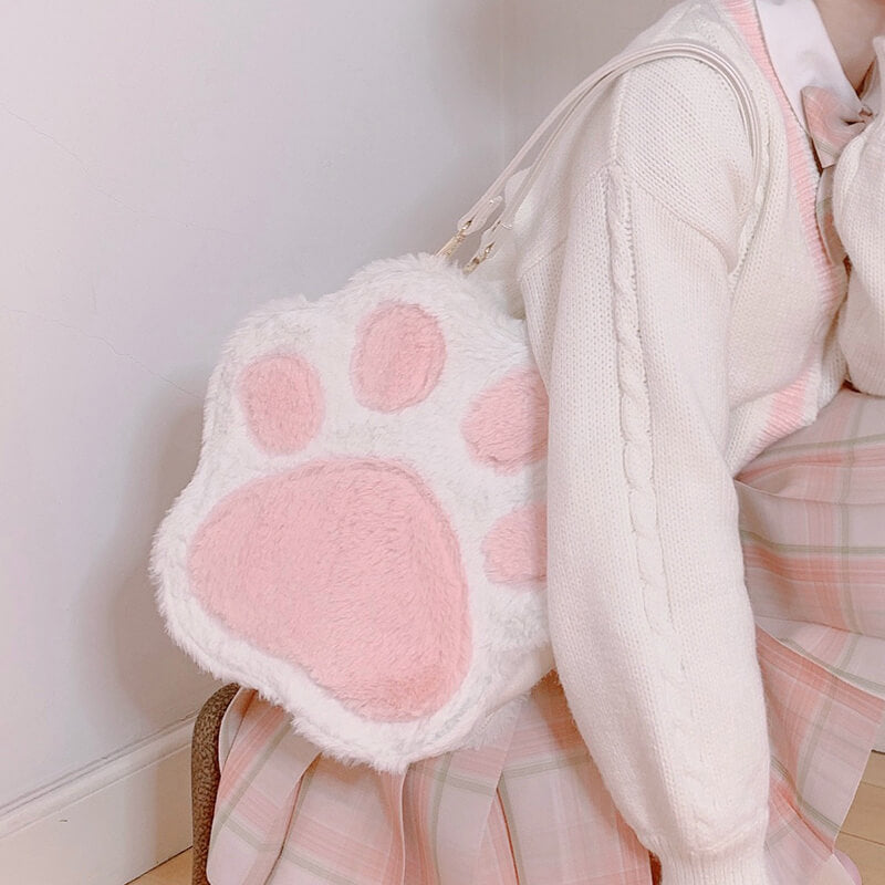 Cat Claw Plush Shoulder Bag SE21527