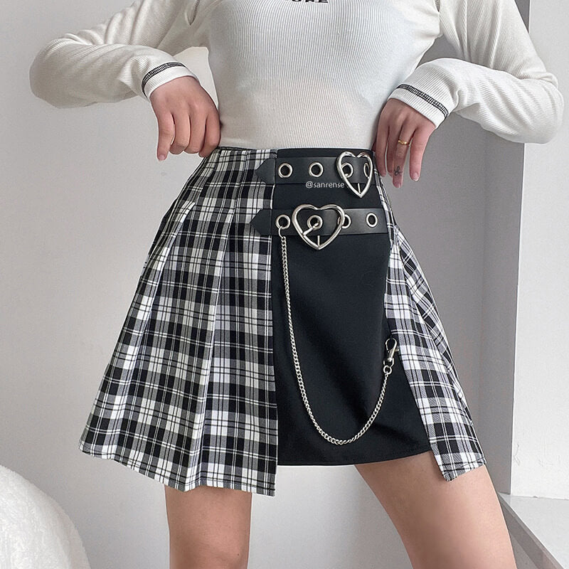 Grid Chain Skirt SE21512