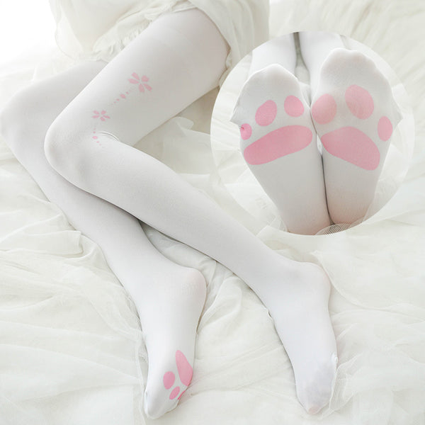 Japanese Cat Claw Cherry Pantyhose Socks SE20134