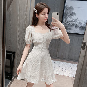 Chiffon Embroidery Dress SE21023