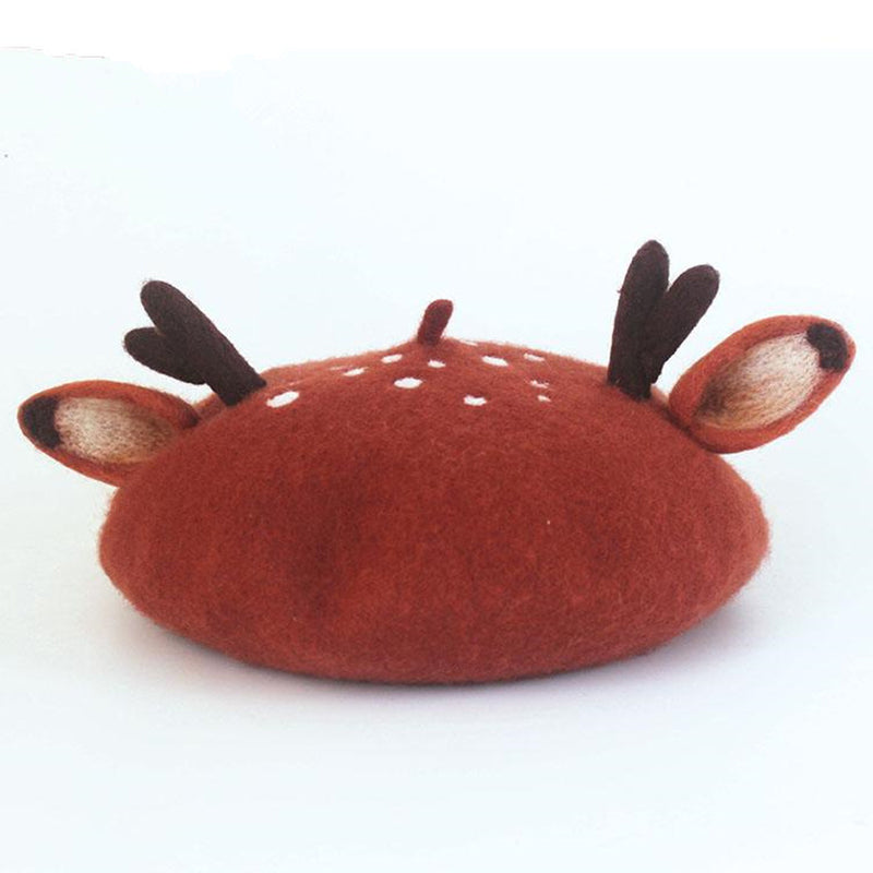 Cute Christmas Antler Ears Beret SE20125