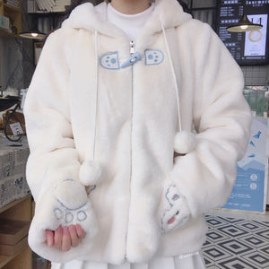 Cute Bear Ears Hooded Coat SE21232