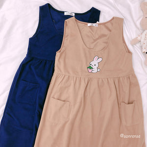 Cute Bunny Vest Dress Sweatshirt Set SE21095