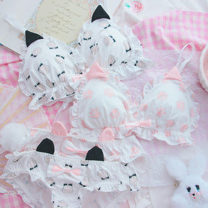 Cute Cat Ear Bow Cat Paw Underwear SE21327