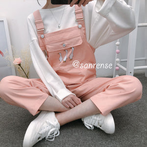 Cute Duck Pocket Jumpsuits SE20914