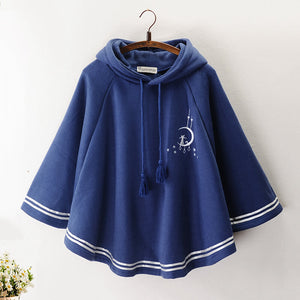 Cute Moon Cat Cape Hoodie SE21118