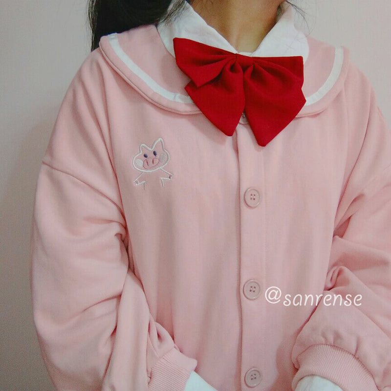 Cute Pig Cardigan Jacket SE20886
