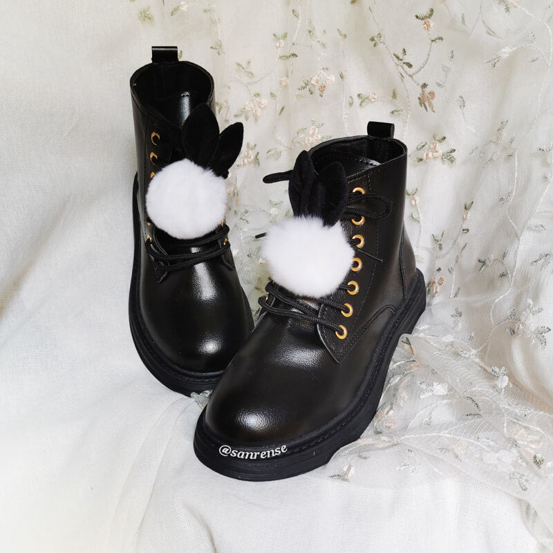 Cute Rabbit Ear Martin Boots SE21170