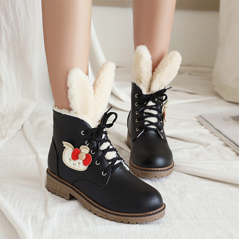 Cute Rabbit Ears Lolita Martin Boots SE21356