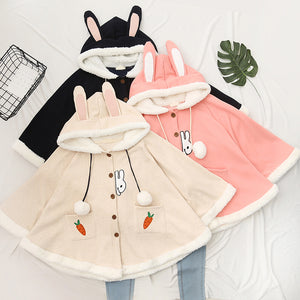 Cute Rabbit Carrot Cloak Coat Hoodie SE21248
