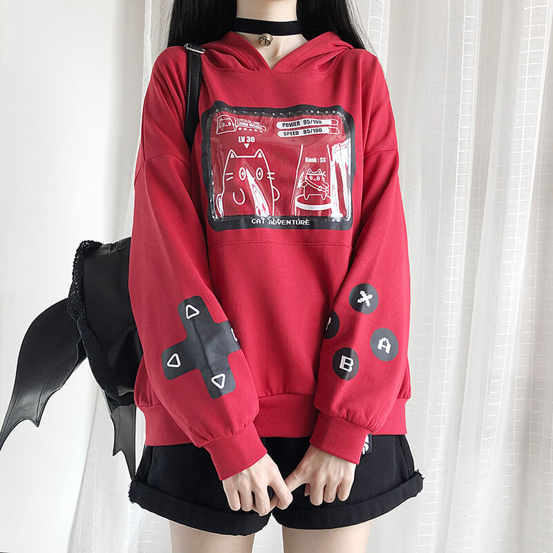Cute Cat Game Hoodie SE20574